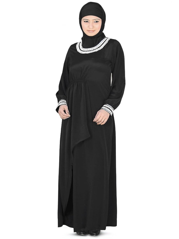 MyBatua Women's Dubai Malak Abaya in Black