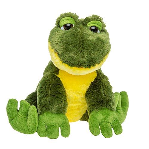 Satin Bear Green - Cuddly Soft 16 inch Stuffed Happy Frog - We stuff 'em.you love 'em!