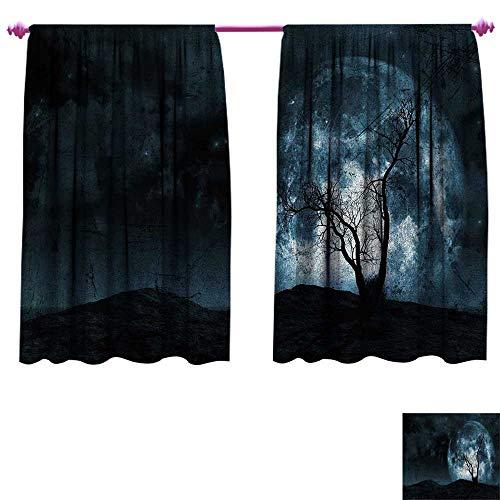 Fantasy Room Darkening Wide Curtains Night Moon Sky