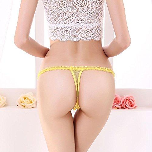 Add Health tanga, ropa interior de mujer 005 amarillo