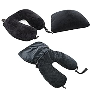 smartrip Travel Pillow, Multi-Purpose Black