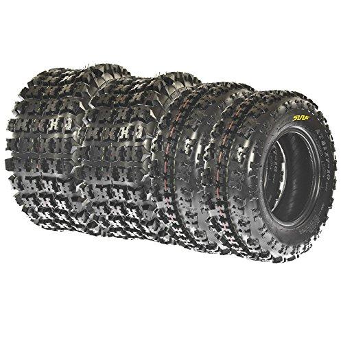 SunF 22x7-11 & 20x10-9 Knobby Sport ATV Tires 6 PR A027 (Full set of 4) by SunF (Image #1)