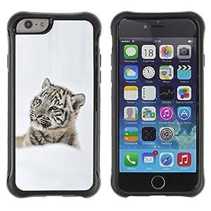 Be-Star único patrón Impacto Shock - Absorción y Anti-Arañazos Funda Carcasa Case Bumper Para Apple iPhone 6(4.7 inches) ( Thoughtful Tiger In Snow Snow Tiger )