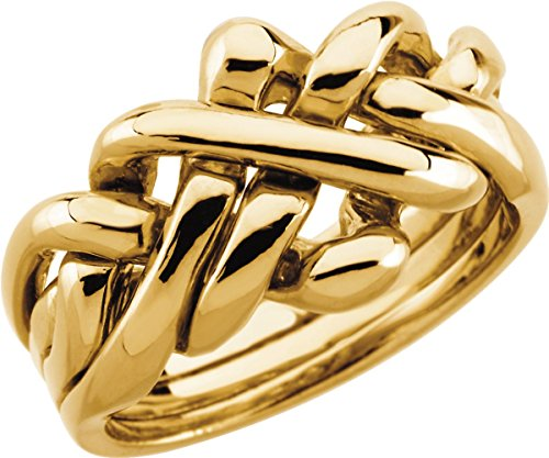 Mens' Puzzle Ring in 18k Yellow Gold (Approximate size 11)