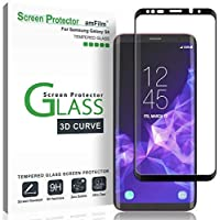 Galaxy S9 Screen Protector Glass, amFilm 3D Curved Dot...