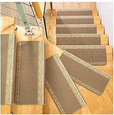 Autoadhesivo Alfombra para Escalera Conjunto de 15 Almohadillas para escaleras 4mm Alfombra/Alfombra para Escalera Antideslizante Antideslizante Protector de Piso Lavable 70x24cm (Color : E): Amazon.es: Hogar