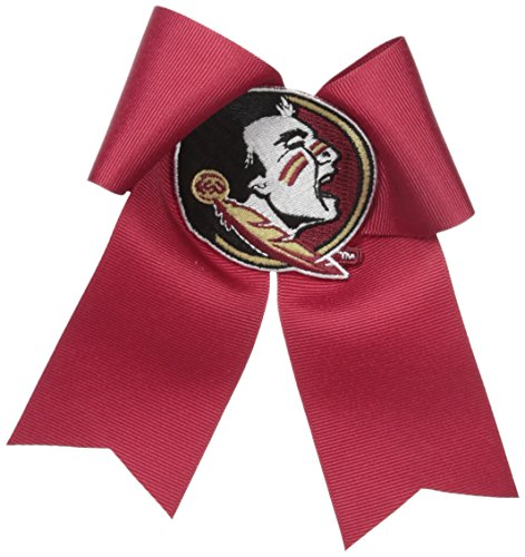 Garnet Bow (NCAA Florida State Seminoles Cheer Bow, One Size, Garnet/Old Gold)
