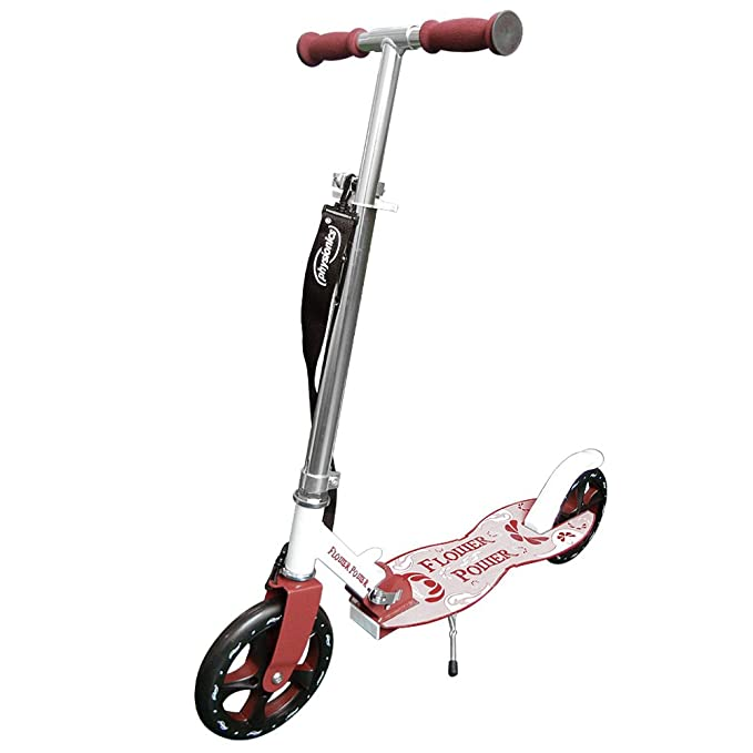 Physionics - Patinete plegable con dos ruedas y manillar - Flowerpower: Amazon.es: Juguetes y juegos