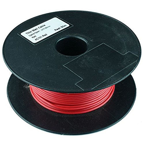 Red 2mm Thin Wall Cable 28//0.3mm 50M Reel 25A PVC Automotive Wire Reel