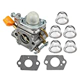 weed eater spark plug - HIPA 985624001 Carburetor + Primer Bulb for Homelite UT09510 UT20002 UT20003A UT20004A UT20006 UT20022 UT20023A UT20024 UT20026 UT20042 UT20042A UT20043A UT20044 UT20046 25cc String Trimmer