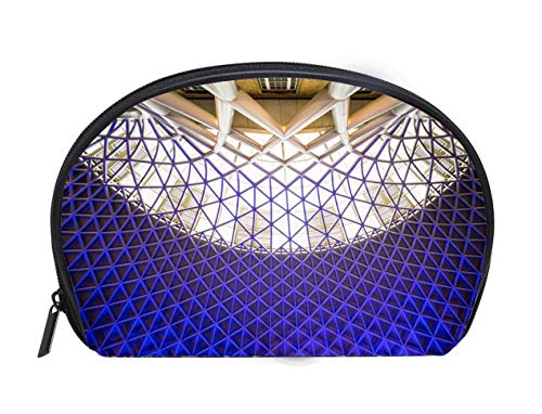Portable Toiletry Cosmetic Bag Architecture at Kings Cross Train Station in London Ladies Travel Convenience Small Wash Bag Storage Bag