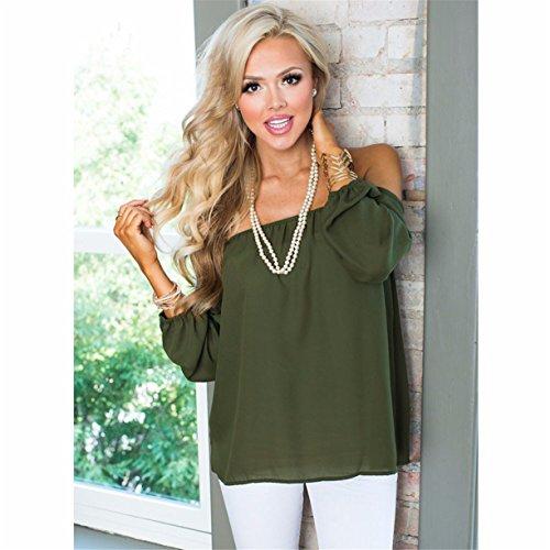 Femmes Sexy Tops Shirt, Reaso Bretelles Encolure Le Collier Parole Chemisier en Mousseline
