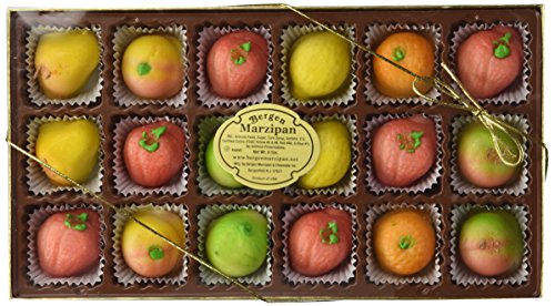 Bergen Marzipan - Assorted Fruit Shapes (18pcs.) by Bergen Marzipan [Foods]
