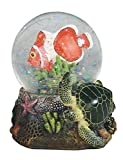 StealStreet Clownfish with Green Turtle Marine Life Snow Globe, 3.75""