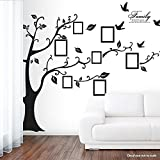 "Newisland® 79"" x 98"" XXL Photo Picture Frame Family Tree Removable Wall Sticker Baby Nursery Decor Wall Decals (Black, Large Right)"