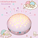 "Little Twin Stars ""Touch Active, Easy Clean"" Twilight Constellation Galaxy Round Projector Night Light by Lumitusi (Little Twin Stars)"