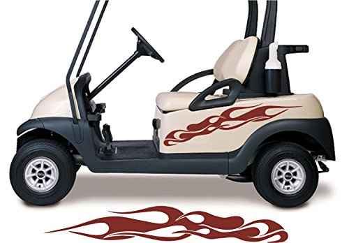Golf Cart Graphics - Golf Cart Decals Side by Side Go Kart Stickers Auto Truck Racing Graphics GC107