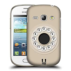 Head Case Designs Almond Retro Phones Protective Snap-on Hard Back Case Cover for Samsung Galaxy Fame S6810