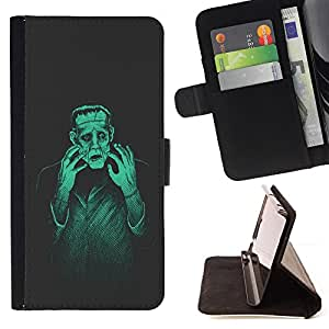DEVIL CASE - FOR Apple Iphone 6 PLUS 5.5 - Man Monster Creation Mad Genius Art Ai Robot - Style PU Leather Case Wallet Flip Stand Flap Closure Cover