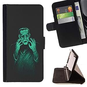 BullDog Case - FOR/HTC Desire 820 / - / man monster creation mad genius art ai robot /- Monedero de cuero de la PU Llevar cubierta de la caja con el ID Credit Card Slots Flip funda de cuer