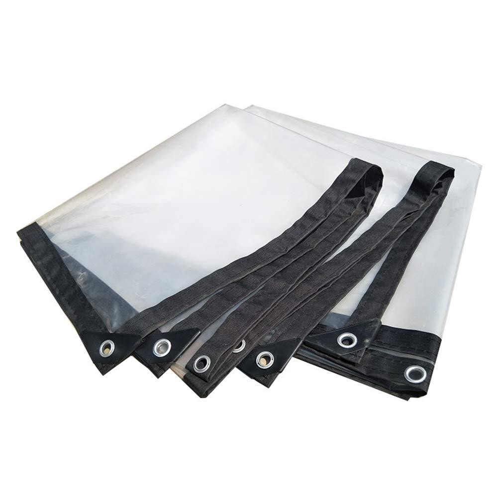 ZBYB Wasserdichte Plane Plane, transparenter Hochleistungsplastik-Stoff regendicht für Balkon-Vorhang, maximales 3x10m