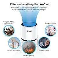 Levoit 3-in-1 Air Purifier with True HEPA Filter, 3 Speeds Plus Night Light, Odor Allergies Allergen Eliminator Cleaner for Home Room, Smoke Dust Mold, Ideal for Smokers, Pets Owners, 100% Ozone Free by LEVOIT