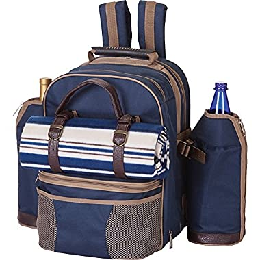 Picnic Plus Tremont 4 Person Picnic Backpack With Waterproof Blanket