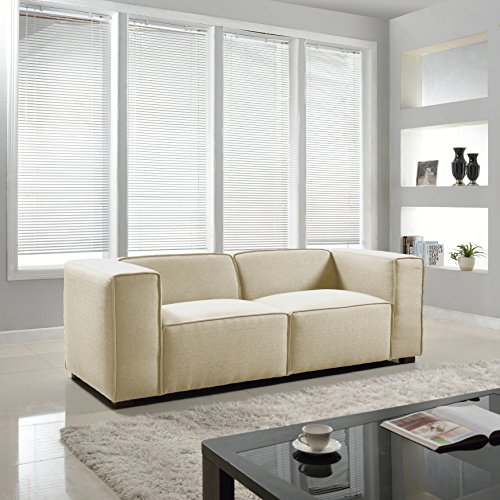 Modern Contemporary Soft Linen Sofa - Beige