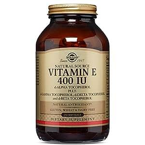 Solgar - Vitamin E 400 IU Mixed Softgels (400 IU d-Alpha Tocopherol & Mixed Tocopherols) 250 Count