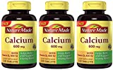 Nature Made Calcium 600 Mg, with Vitamin D3, Value Size, 3 Pack (220-Count-Each) Oy2F Nature-fN