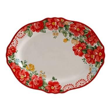 The Pioneer Woman Vintage Floral 14.5  Serving Platter (1 platter)