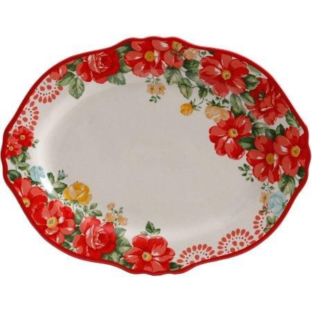 "The Pioneer Woman Vintage Floral 14.5"" Serving Platter (1 platter)"