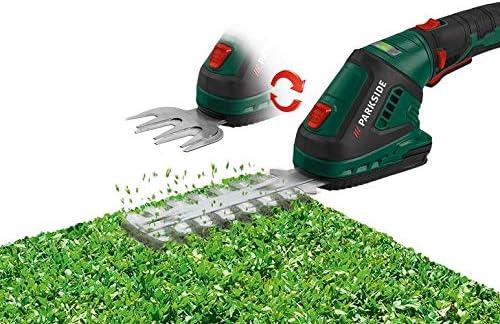 Parkside./® Akku Gras und Strauchschere Buchsschere Grasschere PGSA 4 A1 2in1 Rasenkantenschnitt//Strauchformschnitt