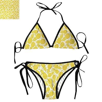 String Bikini Swimsuit for Women Set Pineapple Fruit Pattern