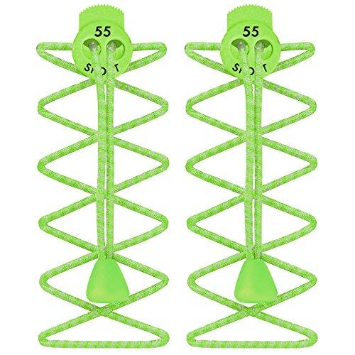 Cordones Elásticos de bloqueo para correr y triatlón Reflective Fluo Green