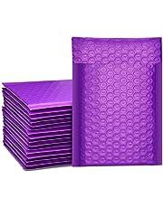 Switory 50 st A5 15,3 cm x 26,9 cm blandade färger poly bubbla posters vadderade kuvert bubbelfodrade poly Mailer självförsegling teal för förpackning