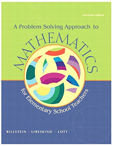 (A Problem Solving Approach to Mathematics for Elementary School)