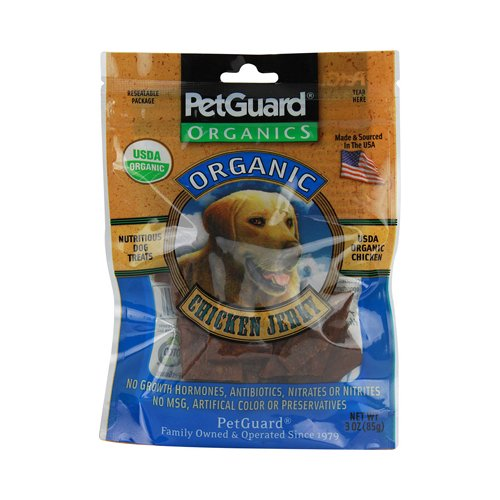Petguard Organics Chicken Jerky Treats For Dogs - 3 Oz (Pack of 6)
