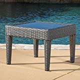 Christopher Knight Home Jermaine Outdoor Grey Wicker Accent Table Review