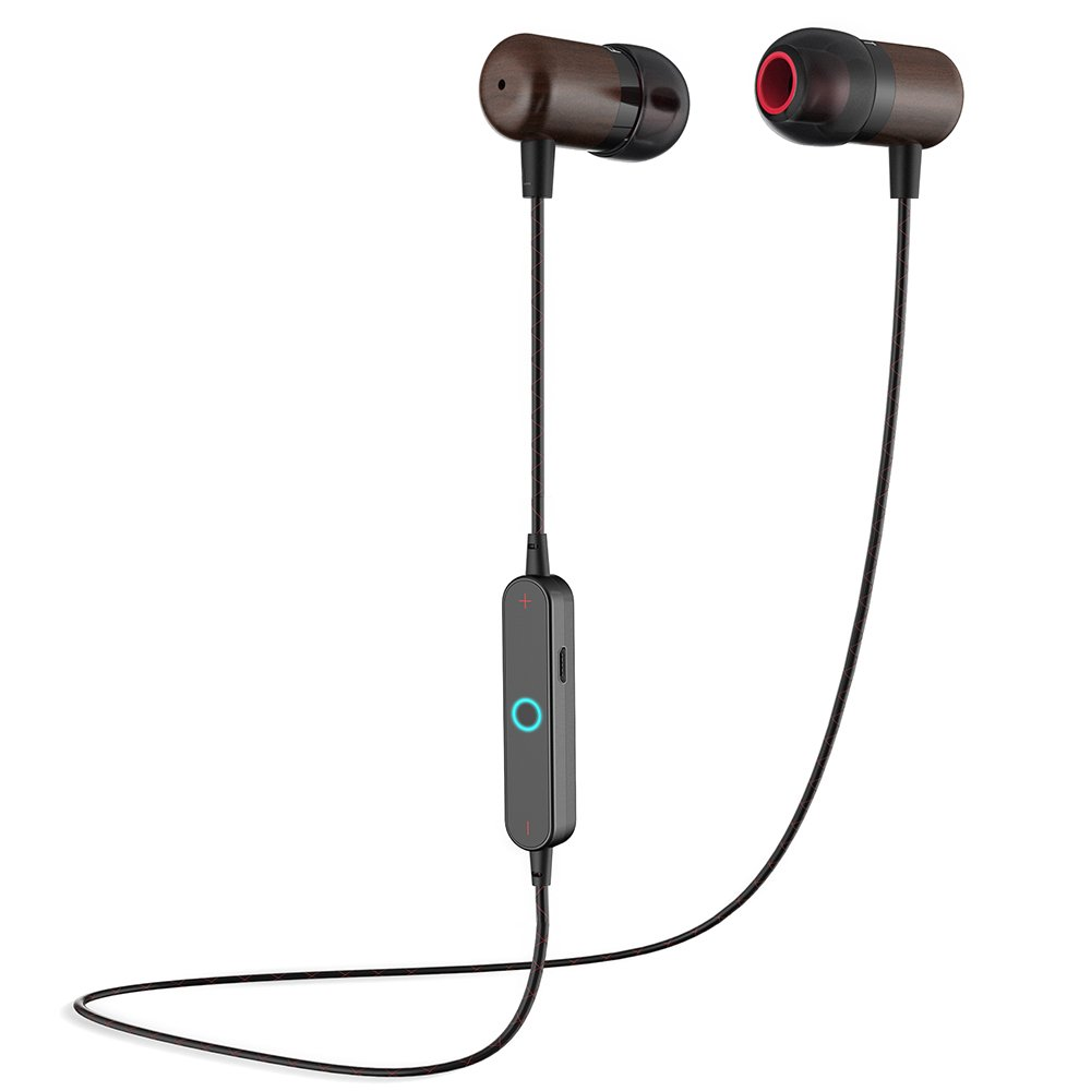 Bluetooth Headphones,Noise Cancelling Headsets Wireless Sports Earphones Waterproof HD Stereo Sweatproof in Ear Earbuds for Gym Running,Workout(Red Black)