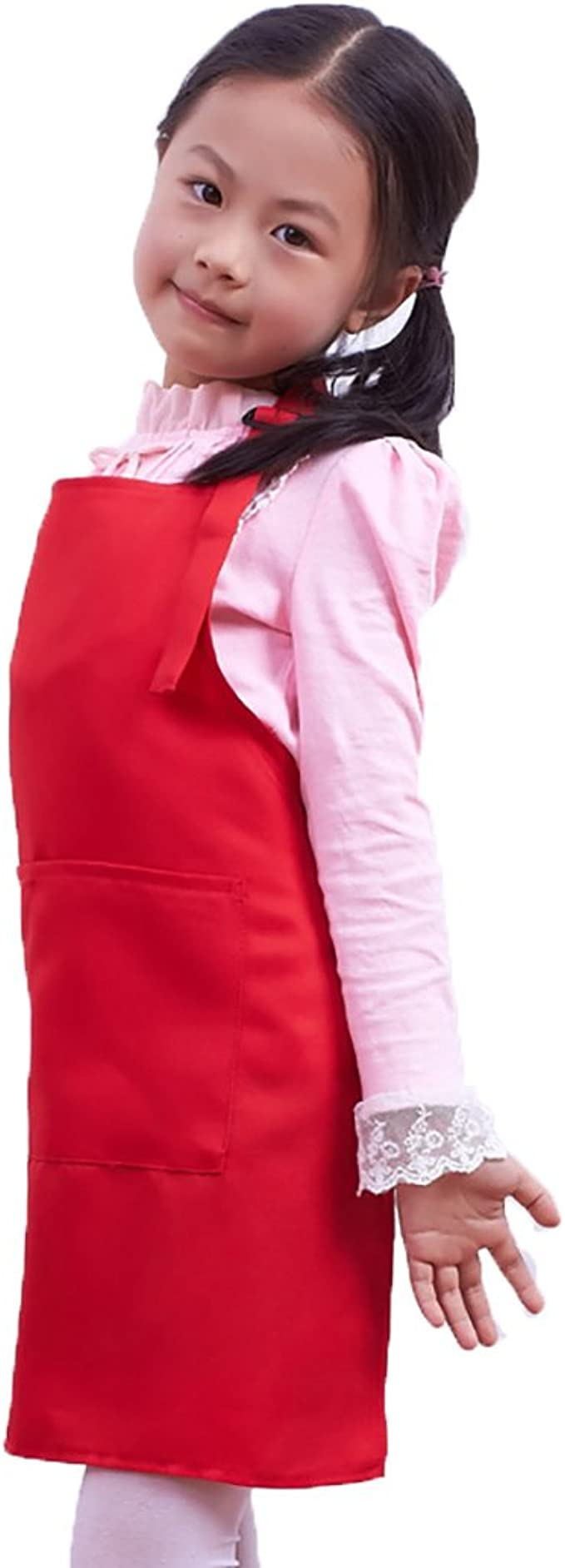 LISSOMPLUME Delantal de ni/ños de 5-7 a/ños de edad de estilo Corea lindo beb/é vivero ropa de pintura