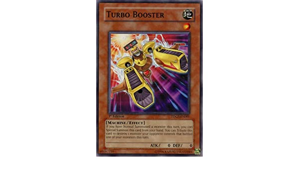 Amazon.com: Yu-Gi-Oh! - Turbo Booster (TDGS-EN001) - The Duelist Genesis - 1st Edition - Common: Toys & Games
