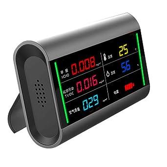 Detector De Formaldehído Con Luz Indicadora Led Temperatura y Humedad Portátiles, Detección Precisa De Calidad