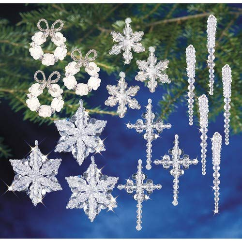 Holiday Beaded Ornament Kit Collection-Crystal Collection
