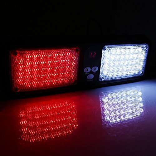 Car 12V 86 LED Sun Visor Strobe Flash Light Emergency Hazard Warning Lamp Strobe Lights ( Color : Red+White )