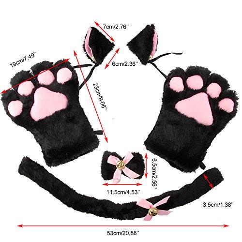 317a12fac6617 Acecharming 4pcs Cat Cosplay Fancy Costume Neko Anime Costume Lolita ...