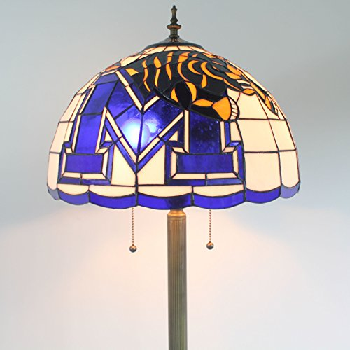 Gweat 16-inch NCAA Memphis Tigers Stained Glass Floor ()