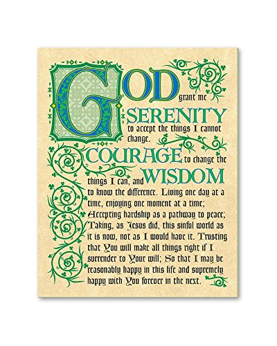 Serenity Prayer (Entire Prayer) Celtic Irish Print Gift PS027