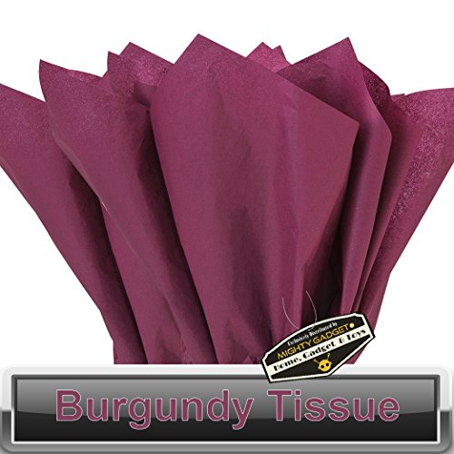 100 pc Mighty Gadget (R) Burgundy Wine Tissue Wrapping Paper - 15