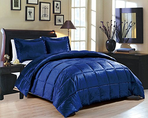 Goose Down Alternative Comforter 3pcs set ,Flannel Queen size 90